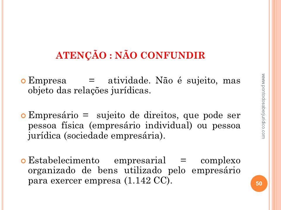 ATENÇÃO : NÃO CONFUNDIR