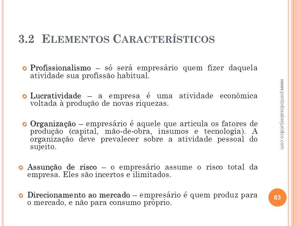 3.2 Elementos Característicos