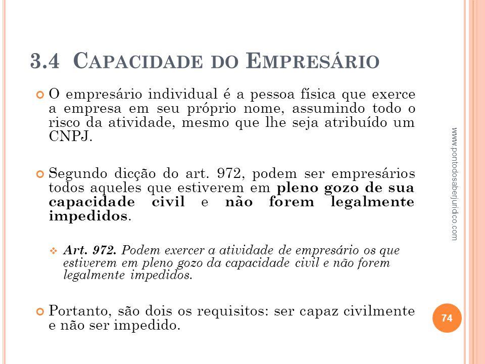 3.4 Capacidade do Empresário