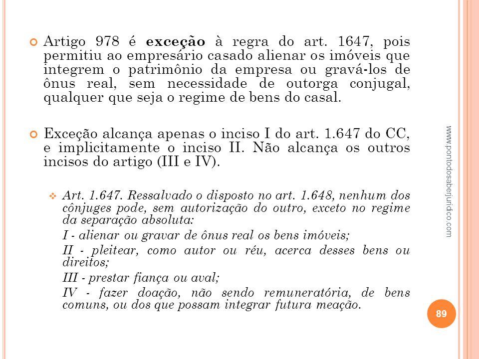 Artigo 978 é exceção à regra do art