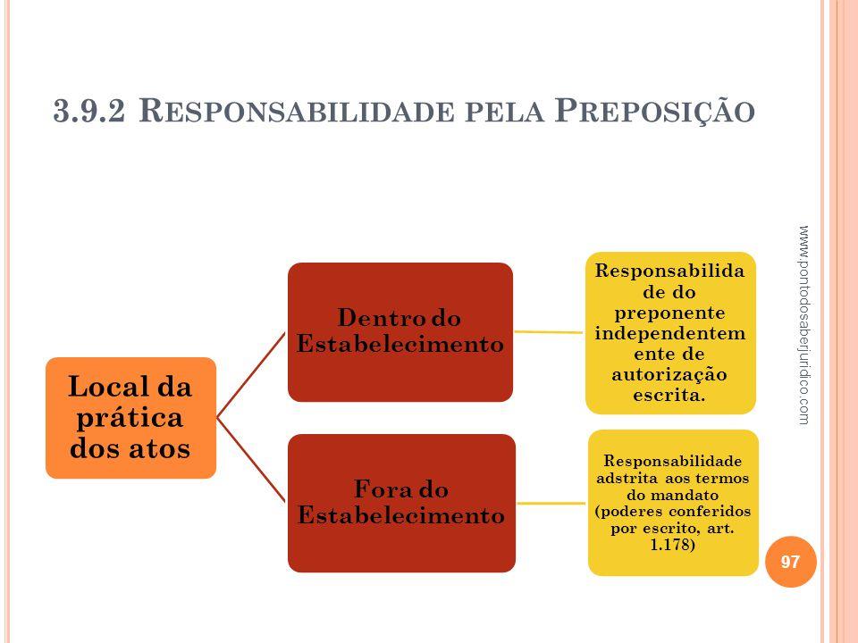 3.9.2 Responsabilidade pela Preposição