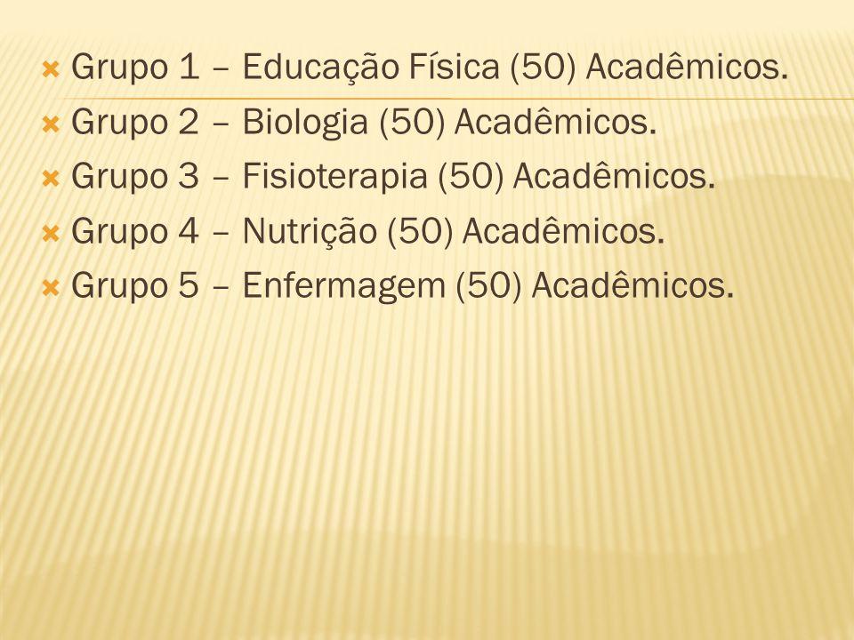 Grupo 1 – Educação Física (50) Acadêmicos.