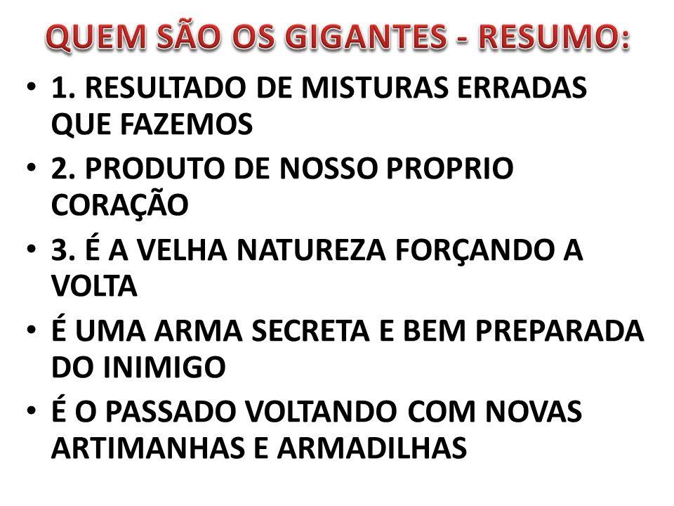 QUEM SÃO OS GIGANTES - RESUMO: