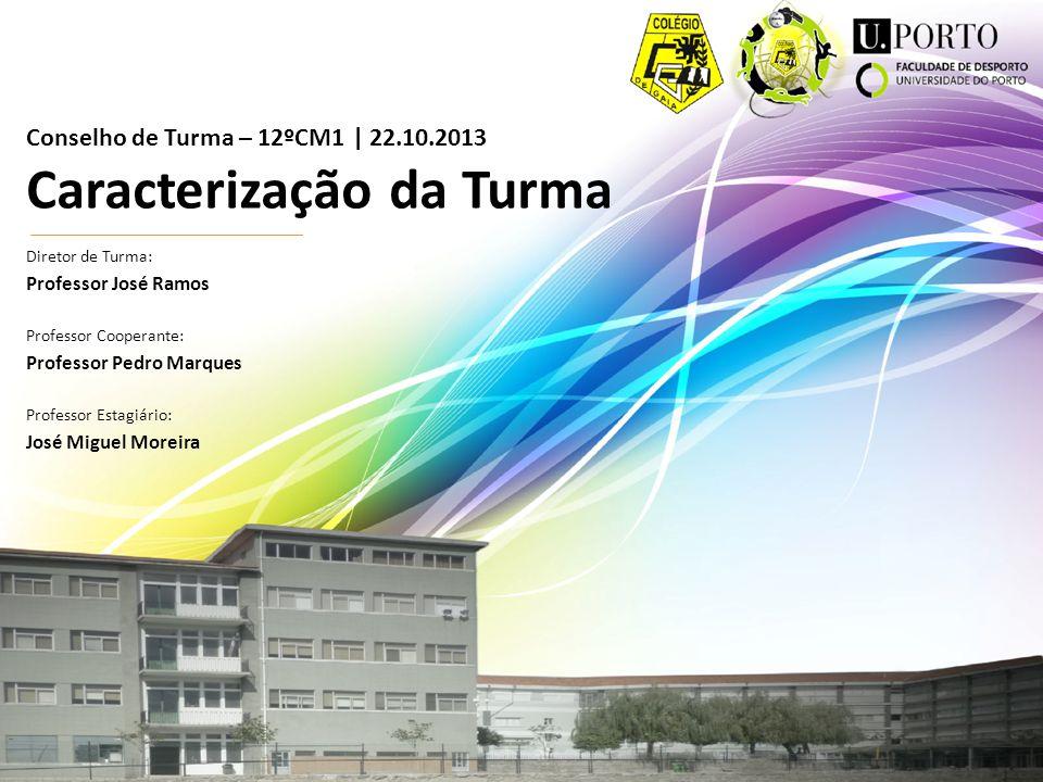 Conselho de Turma – 12ºCM1 | 22.10.2013 Caracterização da Turma