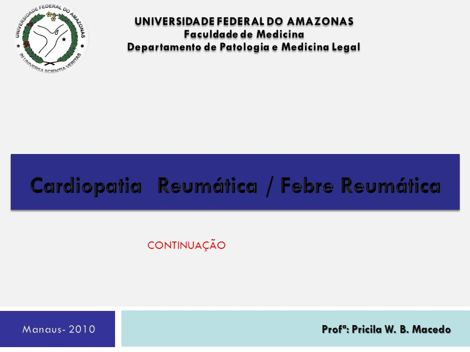 Cardiopatia Reumática / Febre Reumática