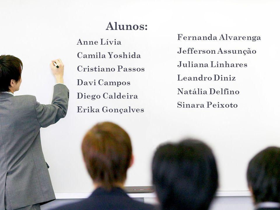 Alunos: Fernanda Alvarenga Anne Lívia Jefferson Assunção