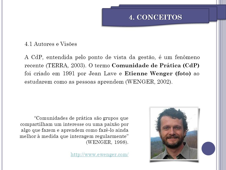 4. CONCEITOS 4.1 Autores e Visões