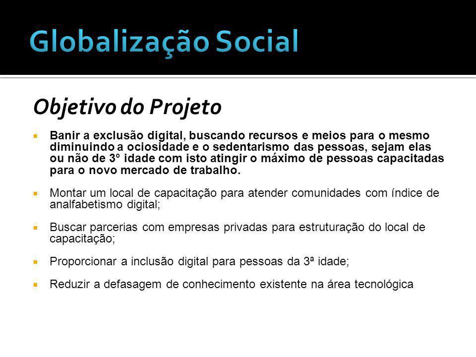 Globalização Social Objetivo do Projeto