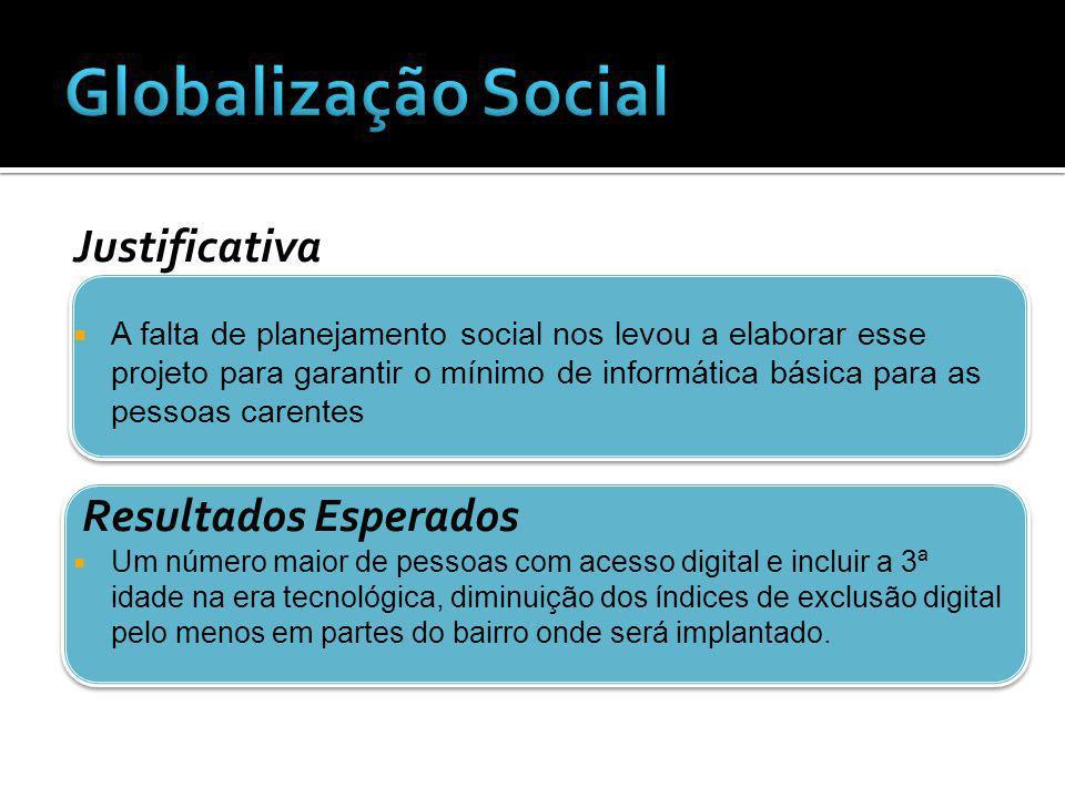 Globalização Social Justificativa Resultados Esperados