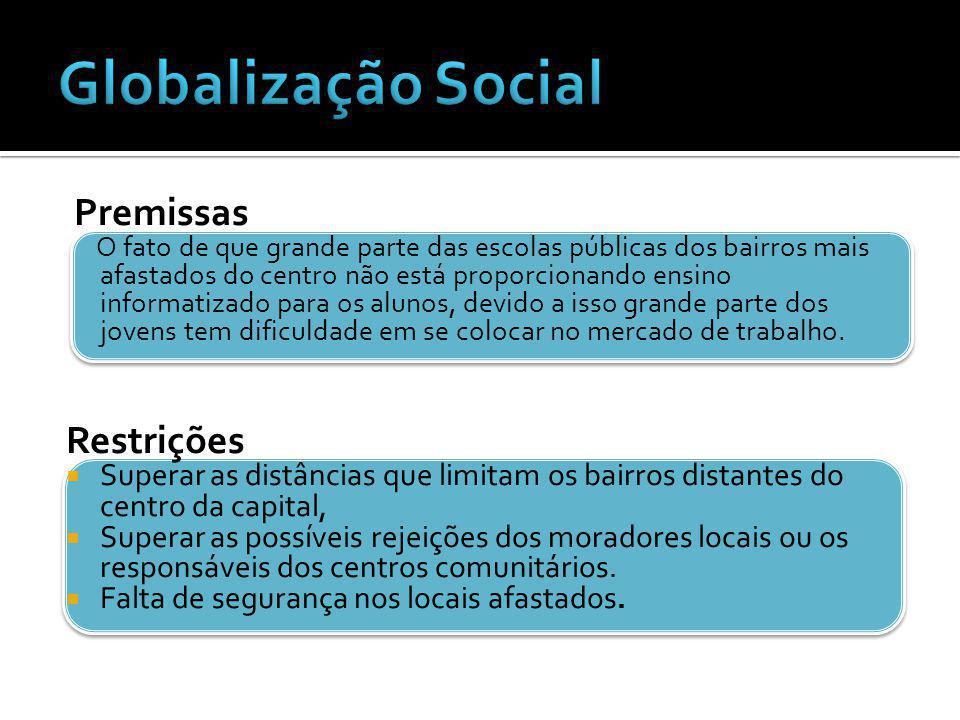 Globalização Social Premissas Restrições