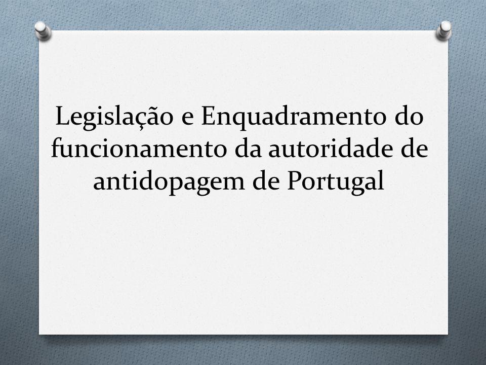 Legislação e Enquadramento do funcionamento da autoridade de antidopagem de Portugal
