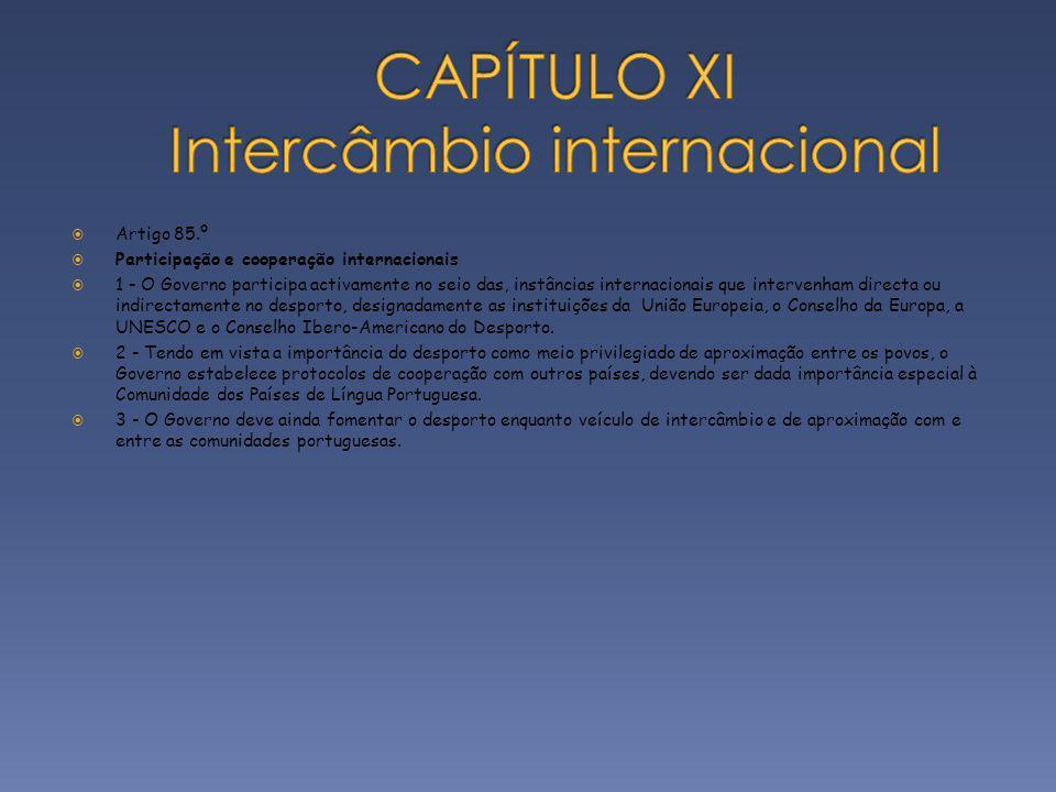 CAPÍTULO XI Intercâmbio internacional
