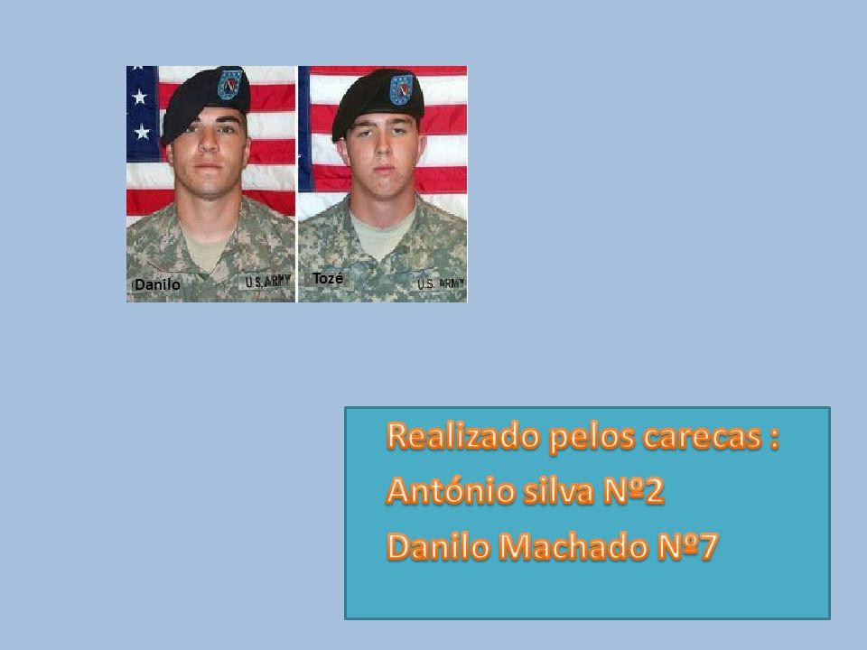 Realizado pelos carecas : António silva Nº2 Danilo Machado Nº7