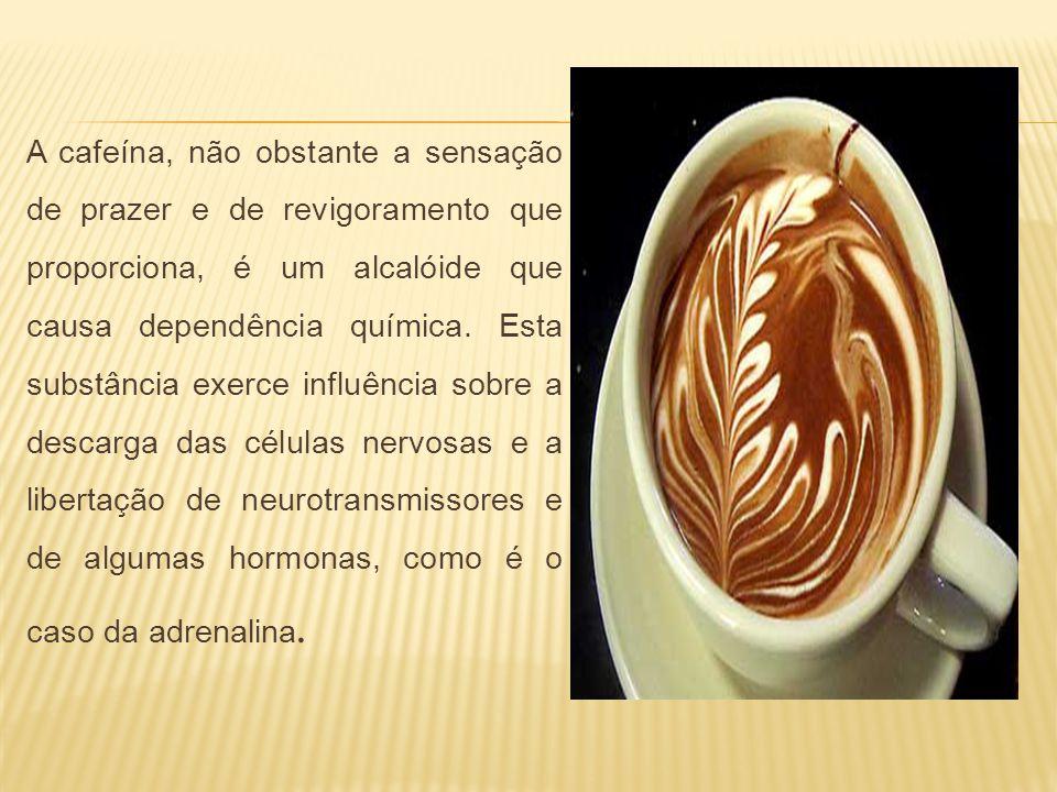 A cafeína, não obstante a sensação de prazer e de revigoramento que proporciona, é um alcalóide que causa dependência química.