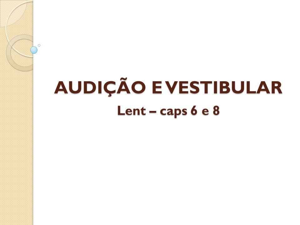 AUDIÇÃO E VESTIBULAR Lent – caps 6 e 8