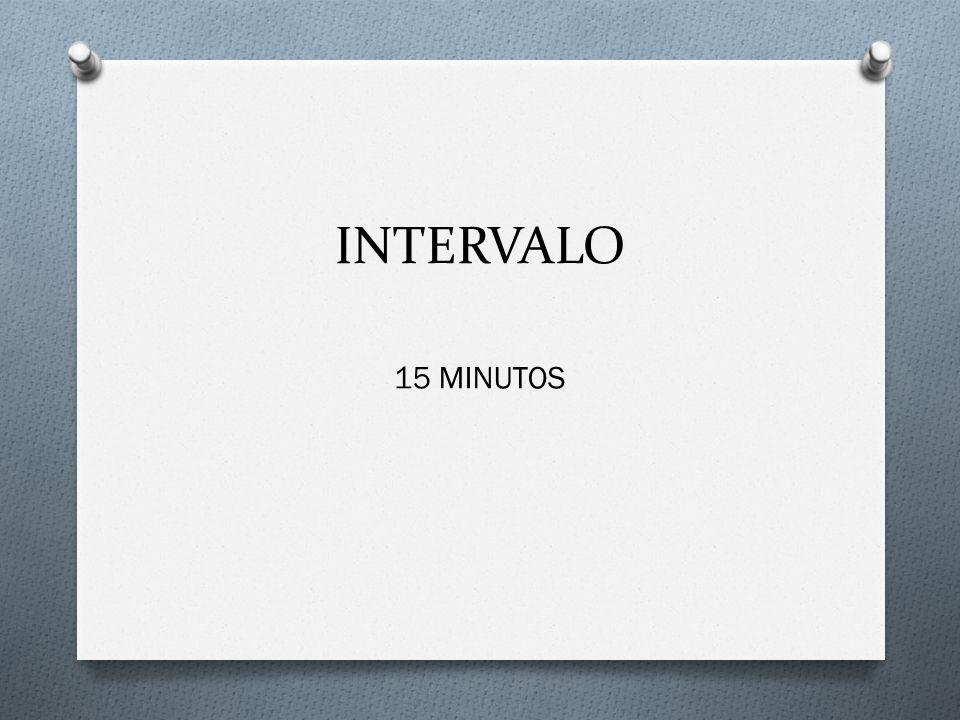 INTERVALO 15 MINUTOS