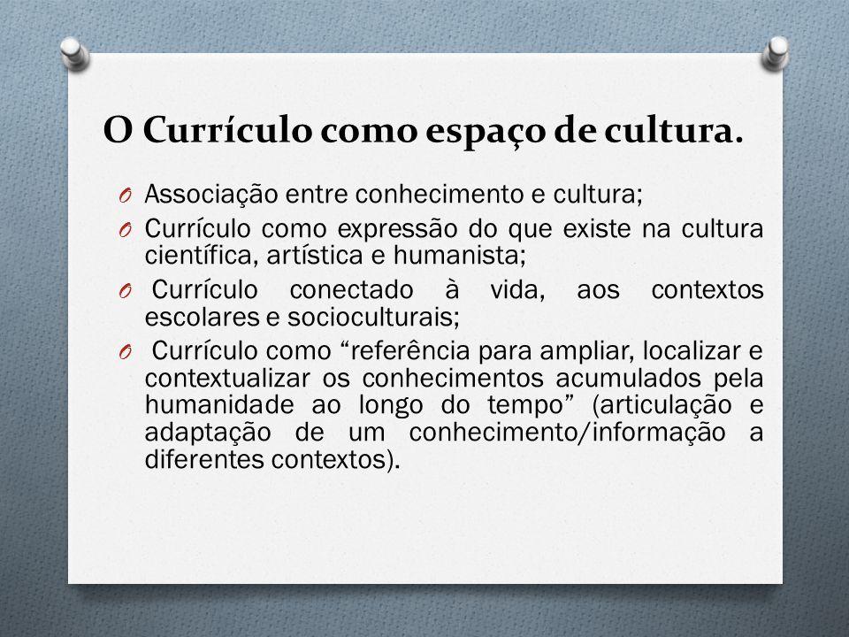 O Currículo como espaço de cultura.