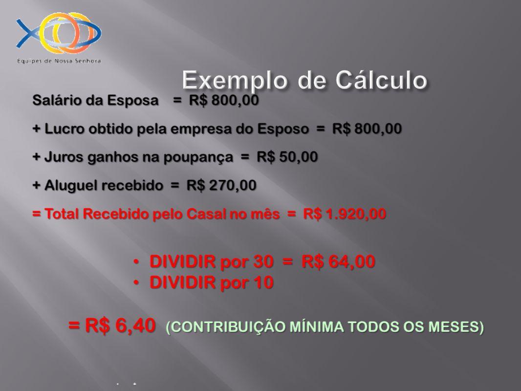Exemplo de Cálculo