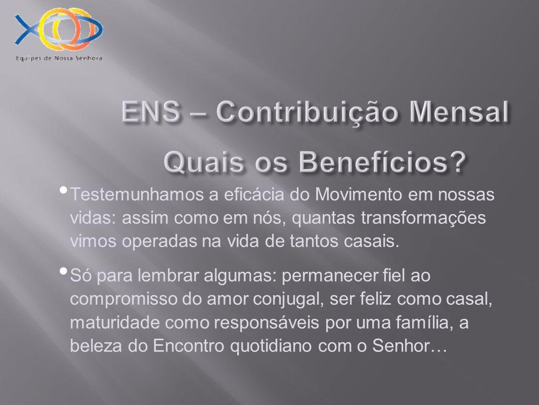 ENS – Contribuição Mensal Quais os Benefícios