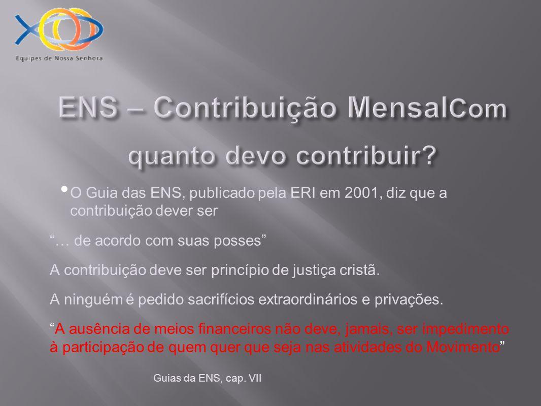 ENS – Contribuição MensalCom quanto devo contribuir