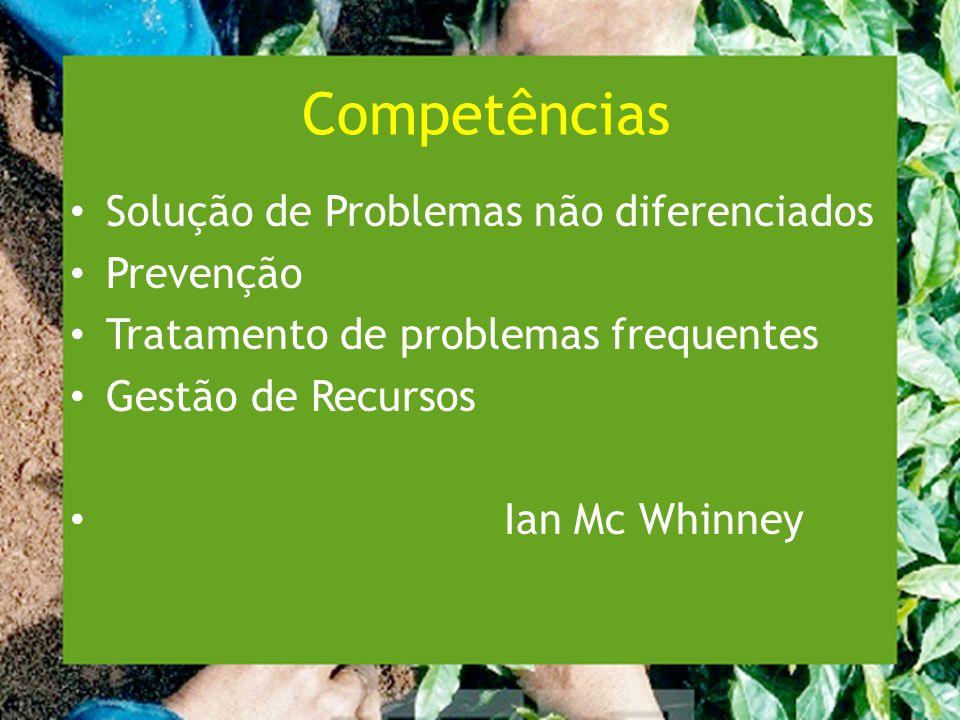 Competências Solução de Problemas não diferenciados Prevenção