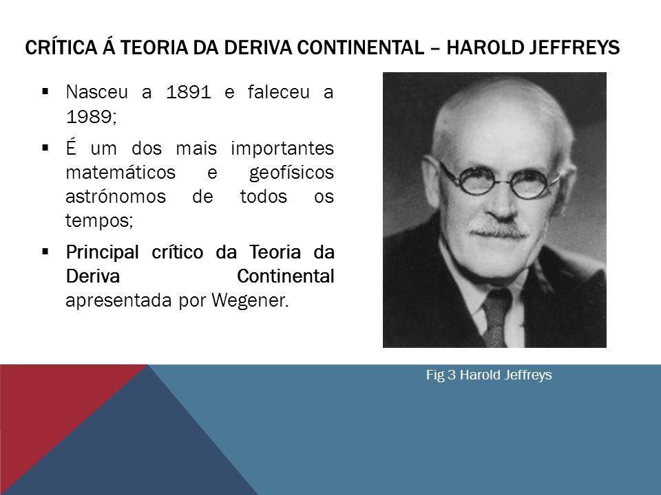 Crítica á teoria da Deriva Continental – Harold Jeffreys