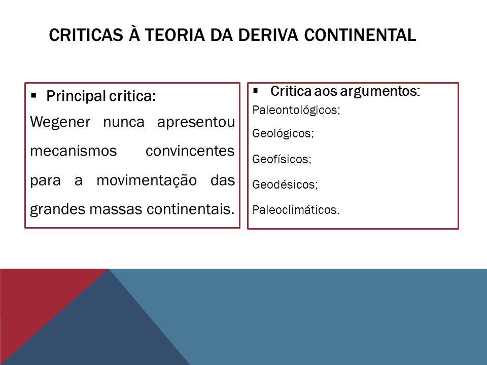 Criticas à teoria da deriva continental