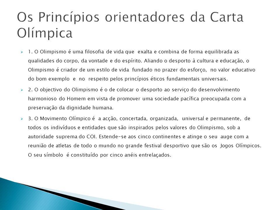 Os Princípios orientadores da Carta Olímpica