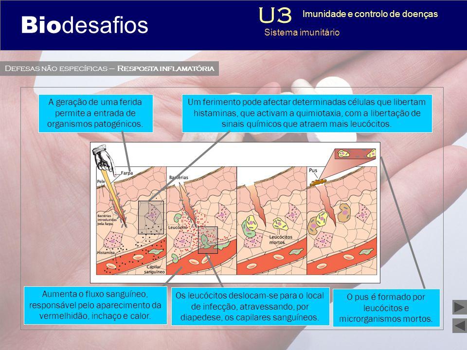 Biodesafios U3 3 Imunidade e controlo de doenças