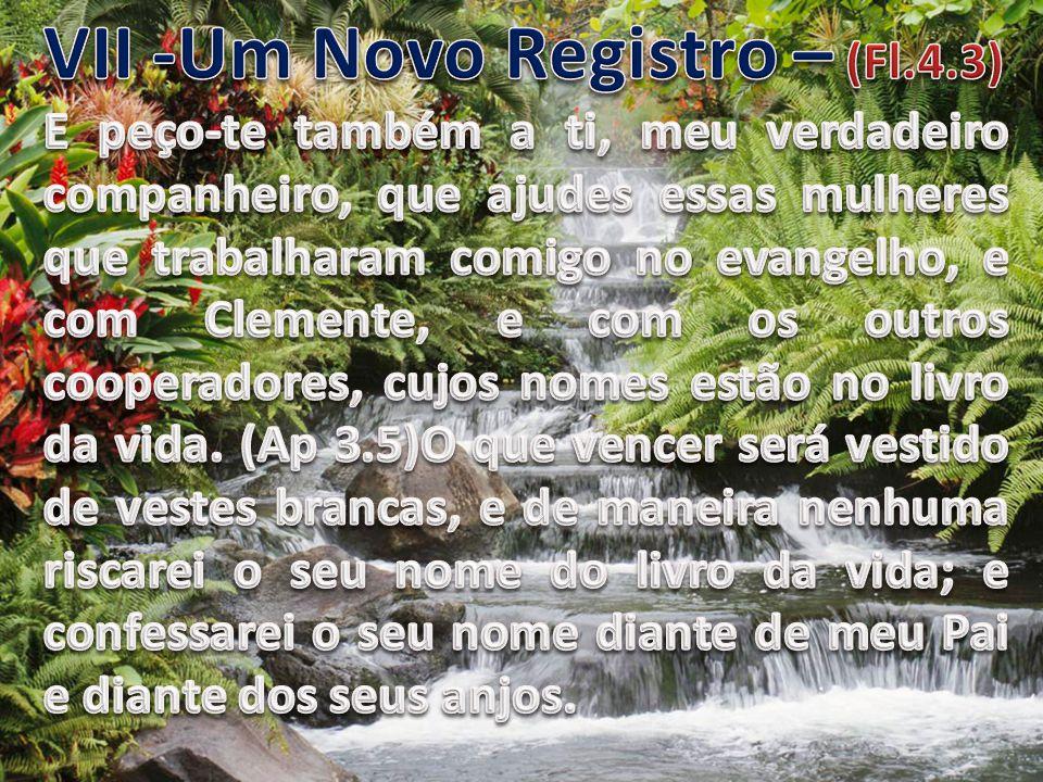 VII -Um Novo Registro – (Fl.4.3)