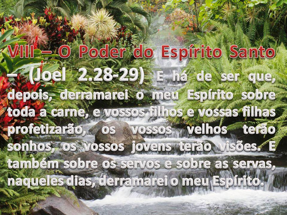 VIII – O Poder do Espírito Santo – (Joel 2