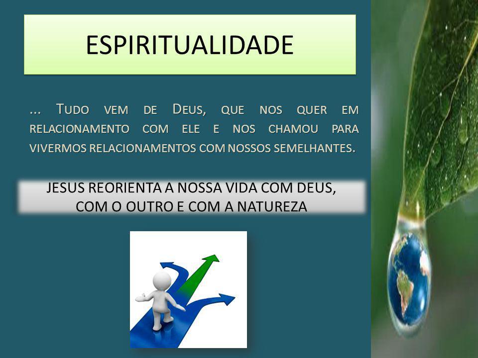 JESUS REORIENTA A NOSSA VIDA COM DEUS, COM O OUTRO E COM A NATUREZA