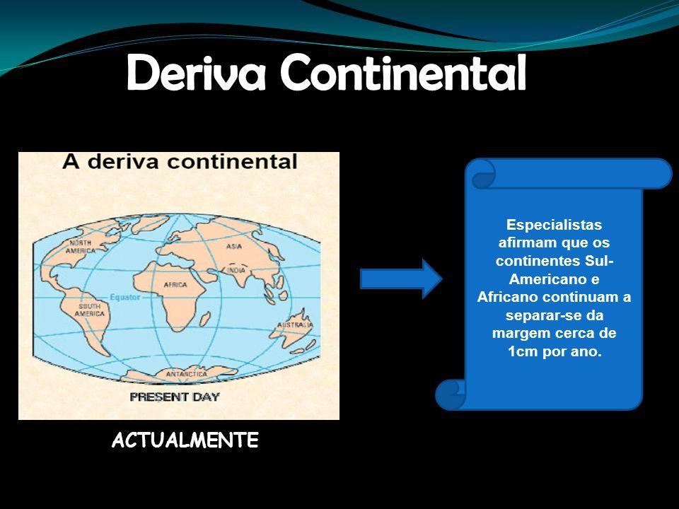 Deriva Continental ACTUALMENTE