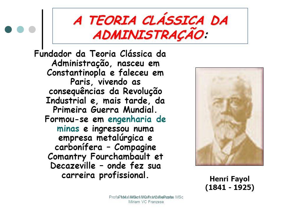 A TEORIA CLÁSSICA DA ADMINISTRAÇÃO: