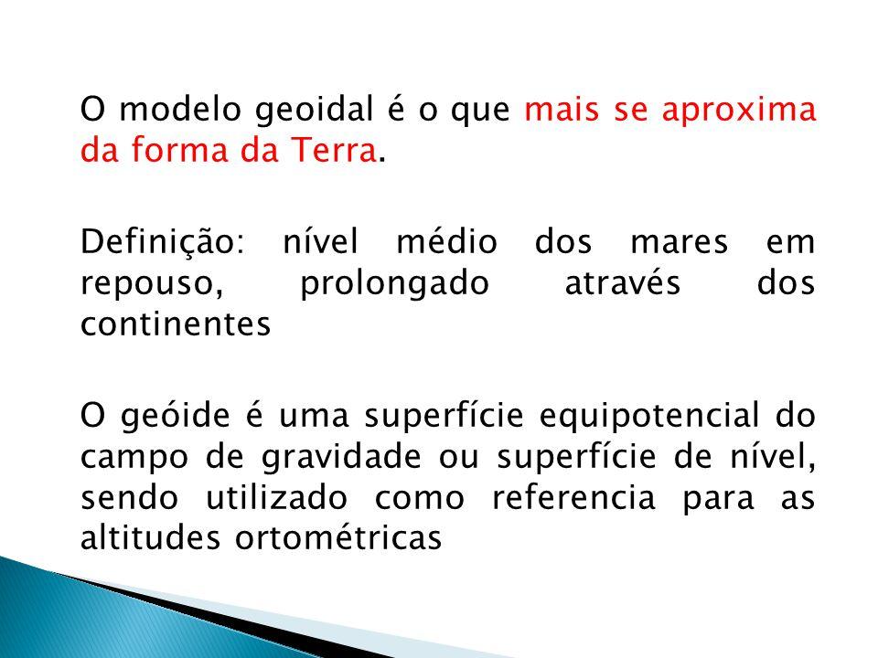 O modelo geoidal é o que mais se aproxima da forma da Terra.