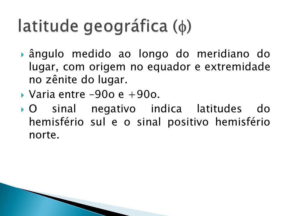 latitude geográfica ()
