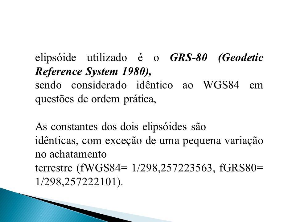 elipsóide utilizado é o GRS-80 (Geodetic Reference System 1980),
