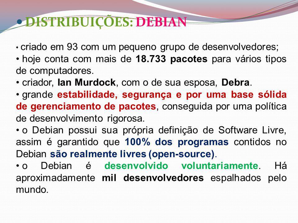 DISTRIBUIÇÕES: DEBIAN