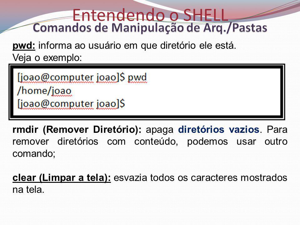 Comandos de Manipulação de Arq./Pastas