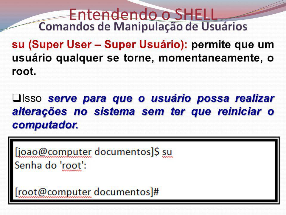 Comandos de Manipulação de Usuários
