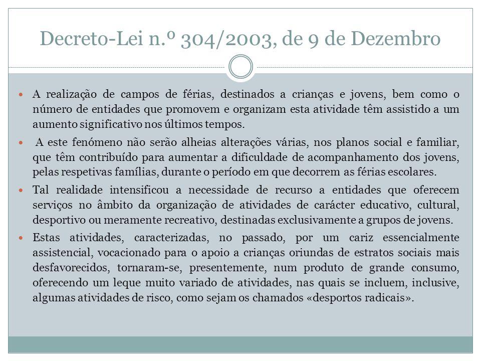 Decreto-Lei n.º 304/2003, de 9 de Dezembro