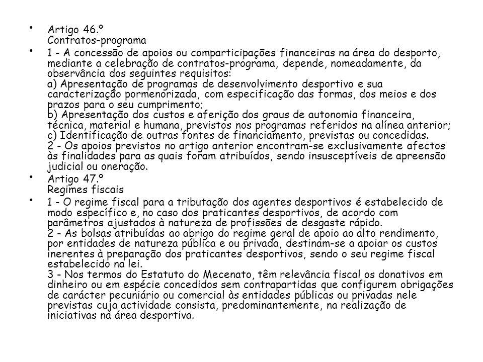 Artigo 46.º Contratos-programa