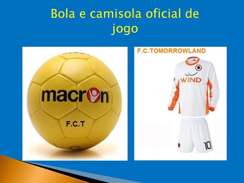 Bola e camisola oficial de jogo
