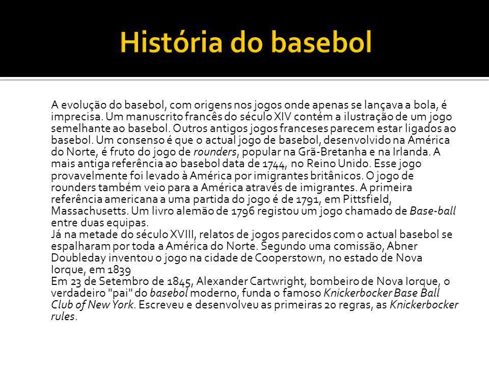 História do basebol
