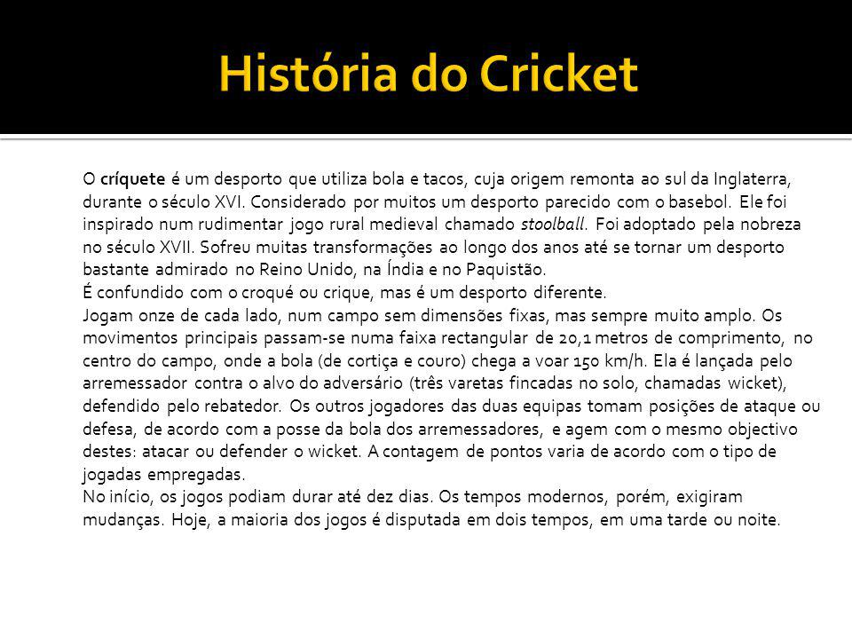História do Cricket