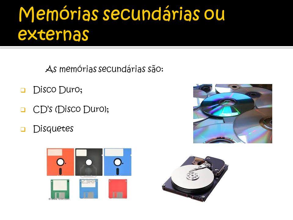 Memórias secundárias ou externas