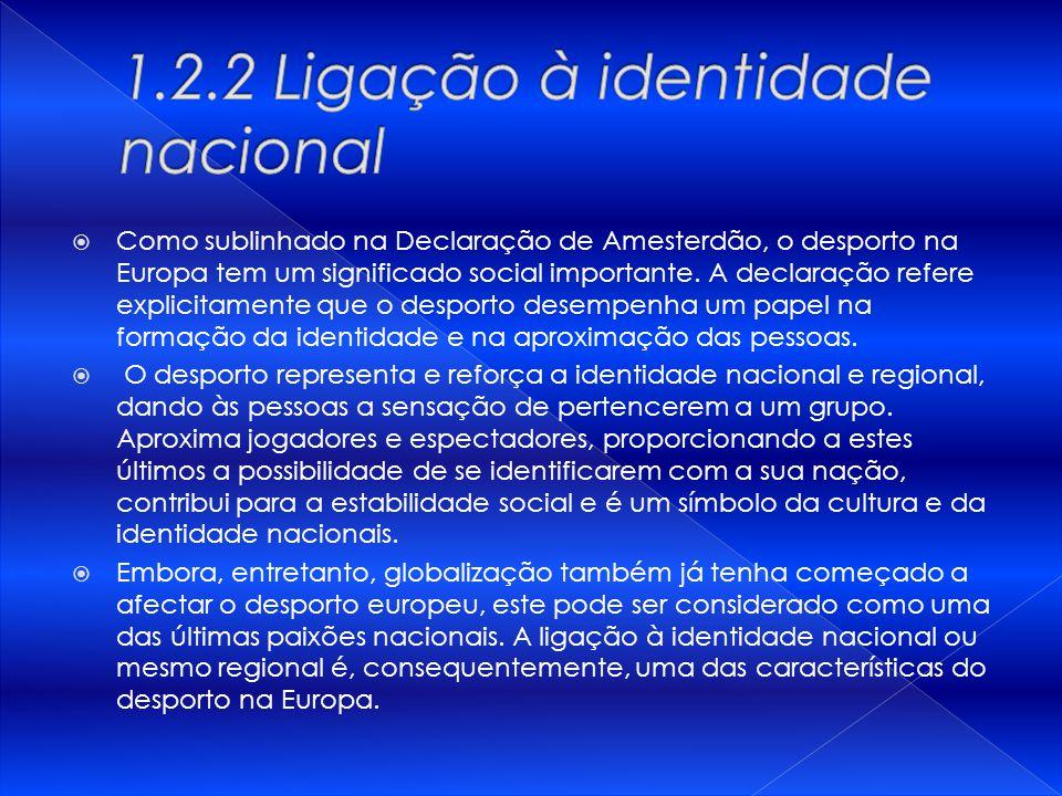 1.2.2 Ligação à identidade nacional