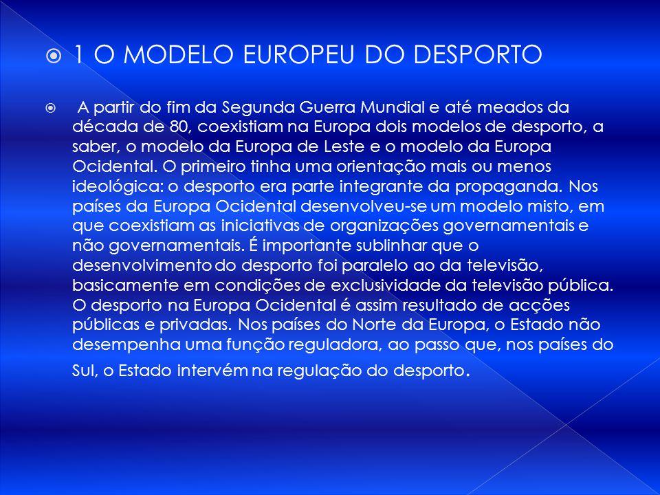 1 O MODELO EUROPEU DO DESPORTO
