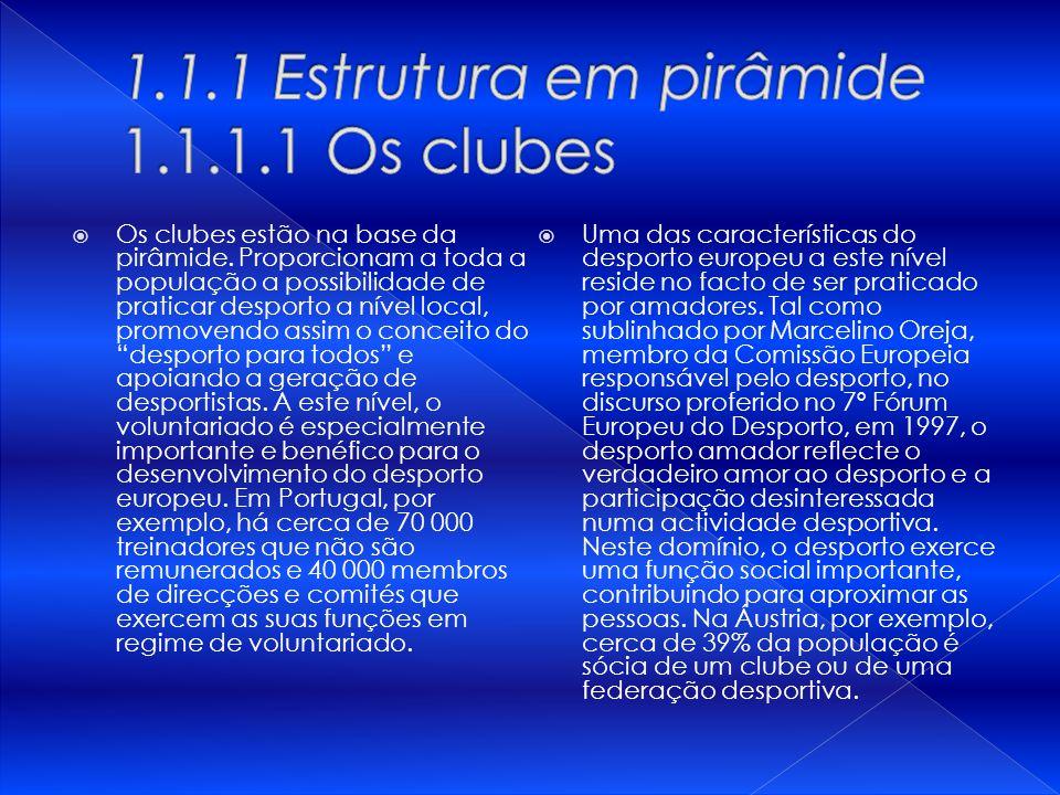 1.1.1 Estrutura em pirâmide 1.1.1.1 Os clubes