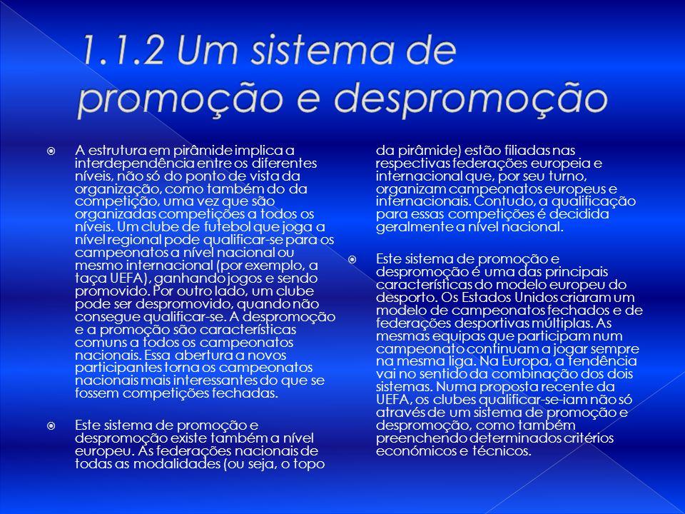 1.1.2 Um sistema de promoção e despromoção